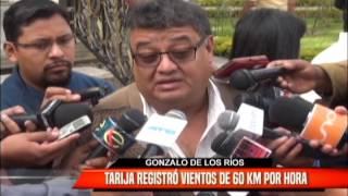 TARIJA REGISTRÓ VIENTOS DE 60 KM POR HORA