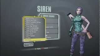 Borderlands 2 All Skins and Heads for the Siren(Maya)