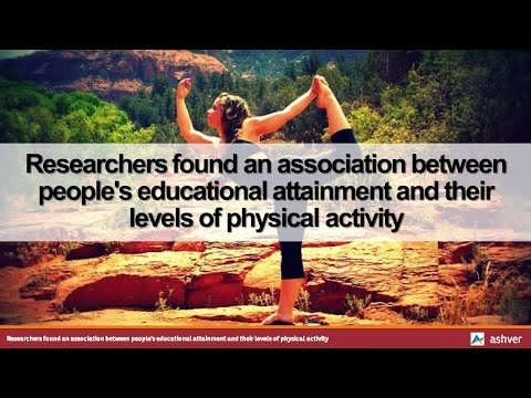Researchers found an association between people's educational attainment and their levels of ...
