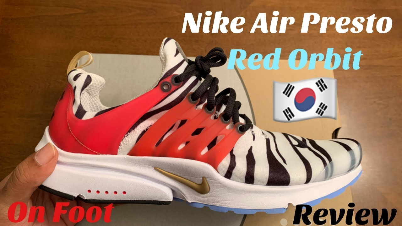 Nike Air Presto Red Orbit Unboxing Review On Foot South Korea Presto Review On Foot Youtube