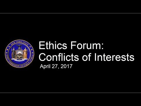 Ethics Forum: Conflicts of Interest
