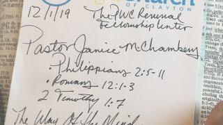 The PWC Revival Fellowship Center 12/1/19