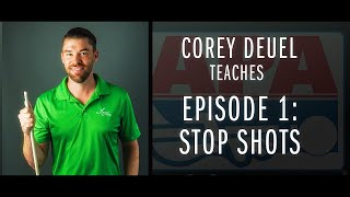 Corey Deuel Ep 1 - How to do a Stop Shot - Pool Tips - Billiard Training
