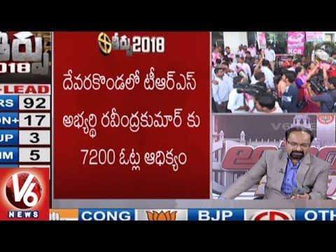 Latest Updates Of Telangana Assembly Election Results 2018 | V6 News