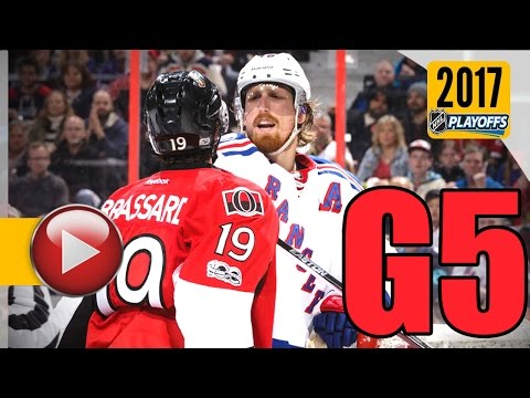 New York Rangers vs Ottawa Senators. 2017 NHL Playoffs. Round 2. Game 5. May 6th, 2017. (HD)