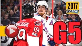 New York Rangers vs Ottawa Senators. 2017 NHL Playoffs. Round 2. Game 5. May 6th, 2017. (HD)
