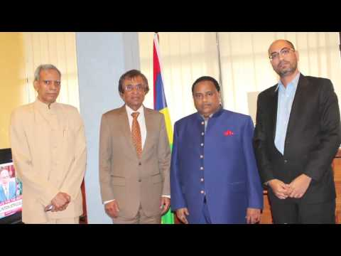 Mr Anil Gyan MAURITIUS  HEALTH MINISTER WITH UDAY JI