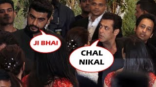 Salman Khan IGNORED Arjun Kapoor AT Sonam's Wedding Party