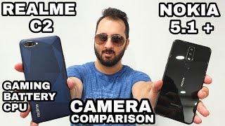 Realme C2 vs Nokia 5.1 Plus Camera Comparison|Realme C2 Camera Review|Battery & Gaming Review