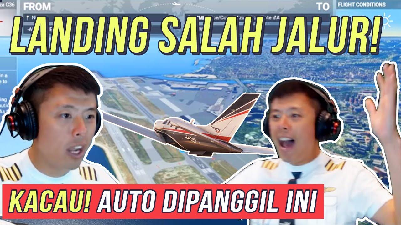 PILOT ASLI TERBANGKAN FLIGHT SIMULATOR 2020 DI LANDASAN BERBAHAYA INDONESIA TINGKAT KESULITAN TINGGI
