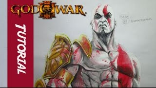 Como dibujar a kratos | god of war | How to draw kratos
