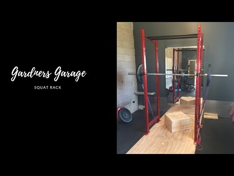 DIY squat rack for your home gym