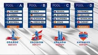 EUROVOLLEY POLAND 2017 - Drawing of Lots Ceremony