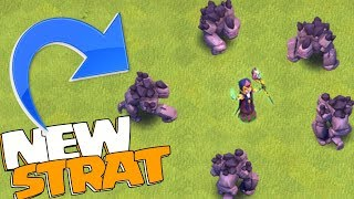 """a NEW way to 3 STAR th12 """"Clash Of Clans"""" MAX golem w/ Witch"""