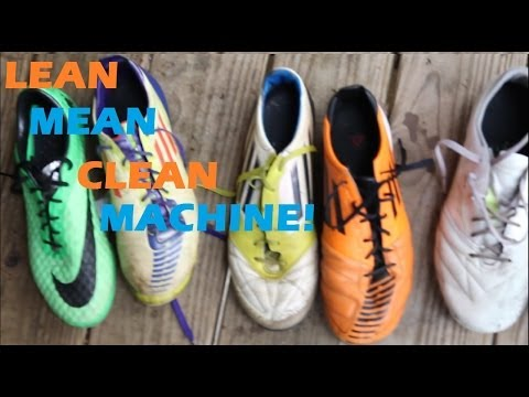 How to clean soccer/football cleats easily!