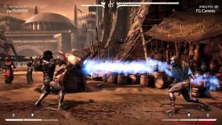 Mortal Kombat X Online Matches| pt. 16 Sub-Zero (Blue Steel) vs Takeda