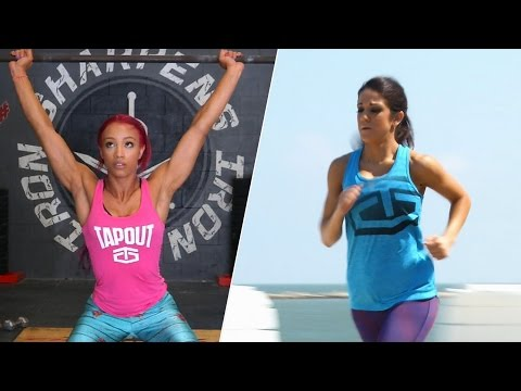 Bayley and Sasha train for their NXT TakeOver WWE Iron Man Match