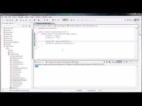 Java Tutorial 94 - String literal pool