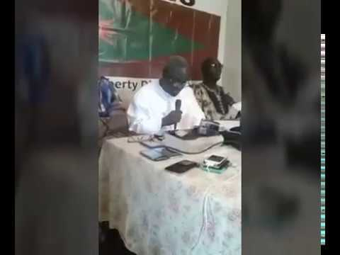 Gambia: Hon. Halifa Sallah Holds A Press Conference At The PDOIS Head Office