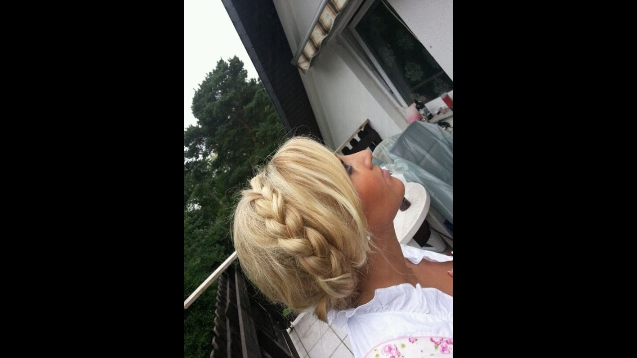 Wiesn Frisuren Dirndl Wasserfallflechtzopf YouTube
