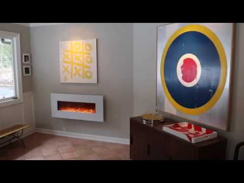 Touchstone Wall Mount Electric Fireplace Installation Guide Youtube