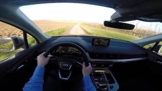 2015 Audi Q7 218HP POV test drive GoPro