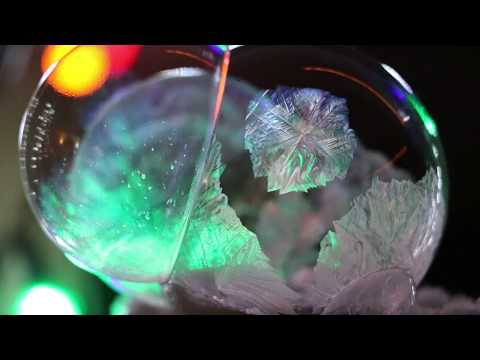 frozen triplet bubbles at night