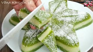 Bánh Da Lợn Khoai Mì hấp - Cách làm Bánh Khoai Mì Da Lợn hấp cho Giáng sinh by Vanh Khuyen
