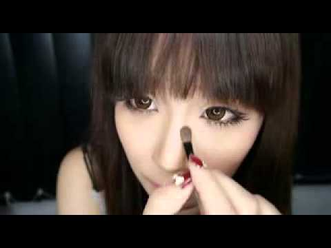 How to Countour Asian Nose Using Eyebrow Powder Japanese ulzzang Style