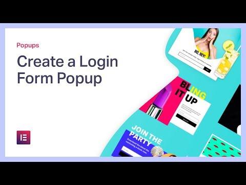 Create a Login Form Popup in WordPress with Elementor's Login Widget