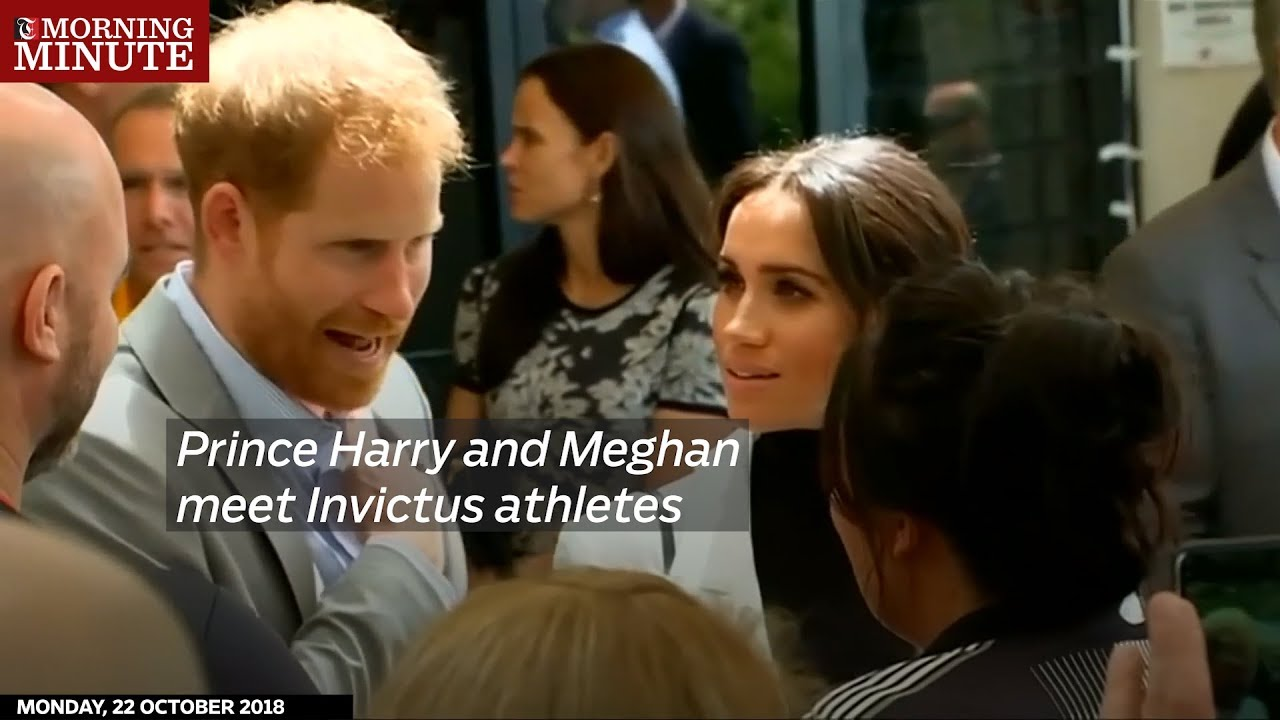 Prince Harry and Meghan meet Invictus athletes