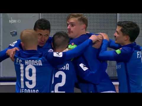 SV Wehen Wiesbaden gegen Hansa Rostock - 16. Spieltag 17/18 - Tor