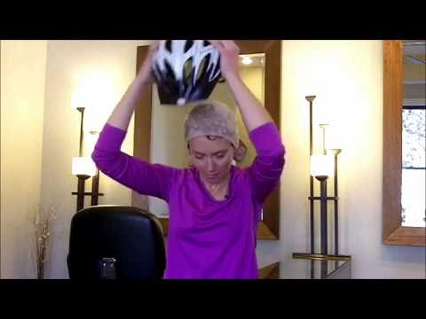 How To Wear A Bike Helmet With Wet Curly Hair Youtube