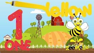 🔴 Aprendendo Inglês Infantil Cores e Números para Crianças