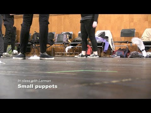 In class with Lerman: Small puppets