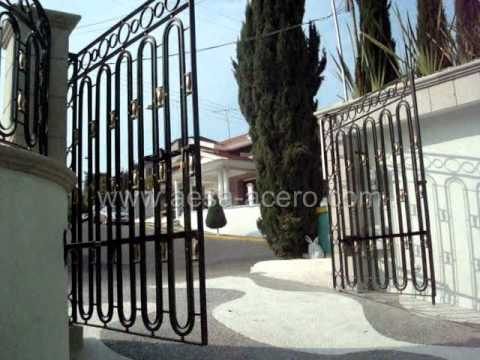 Reja automatica con brazos inferiores youtube for Brazos puertas automaticas