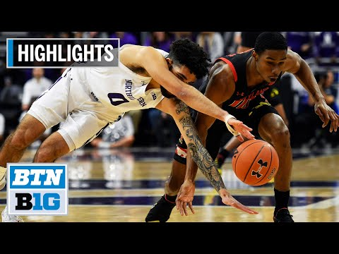 highlights:-jalen-smith's-big-night-leads-terps-to-win-|-maryland-at-northwestern-|-jan.-21,-2020