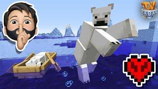 I Kidnapped a BABY POLAR BEAR In Minecraft Hardcore!
