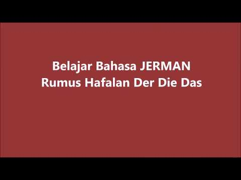 Belajar Bahasa Jerman A1- Rumus Hafalan Der Die Das-Denkspa VLOG