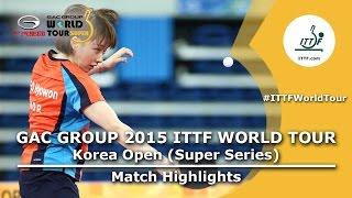 Korea Open 2015 Highlights: SEO Hyowon vs BALAZOVA Barbora (1/16)