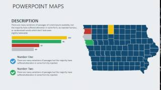PowerPoint maps of Iowa with Counties