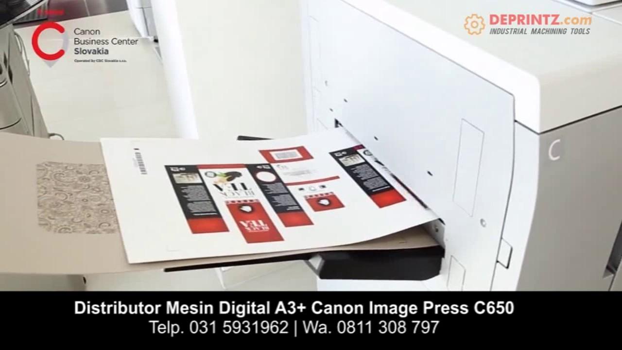 DEMO PRINTER LASER CANON A3+ IMAGE PRESS C650 DI BANDUNG