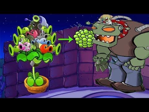 Plants vs Zombies Epic Hack - All Pea PvZ vs Dr. Zomboss