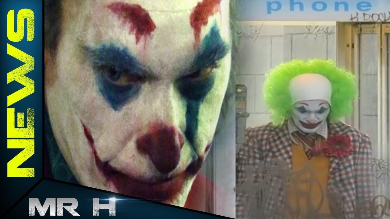 NEW FOOTAGE Of JOKER Movie Joaquin Phoenix In NY Phone Booth