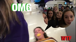 ORANGE CHOKES GIRL *VOMIT WARNING* / VLOGMAS DAY 7 / school vlog
