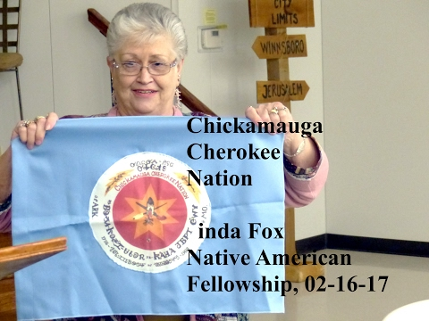"""Chickamauga Cherokee Nation,"" Linda Fox, Native American Fellowship, 02-16-17"