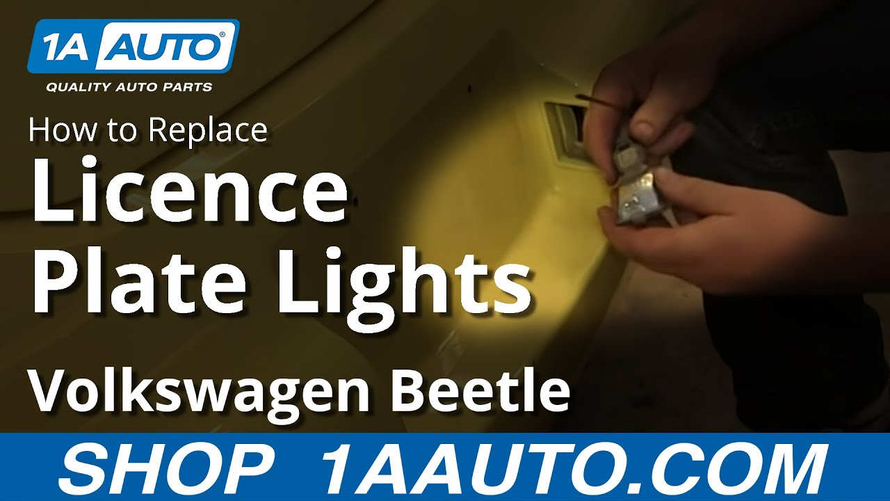 hight resolution of how to replace license plate light 98 10 vw volkswagen beetle