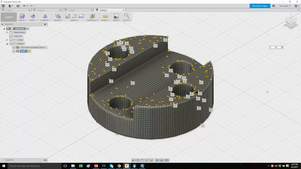 How to import STL into Fusion 360 and sculpt it - NOTE - link to updated  version in comments