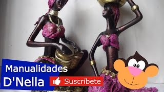"Manualidades: CERAMICA BIZCOCHO CON GASA - By: ""Taller Dnella"