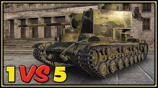 KV-5 - 11 Kills - 1 VS 5 - World of Tanks Gameplay